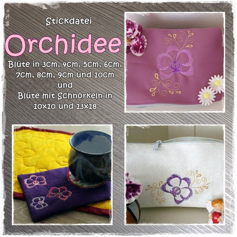 Stickdatei Orchidee