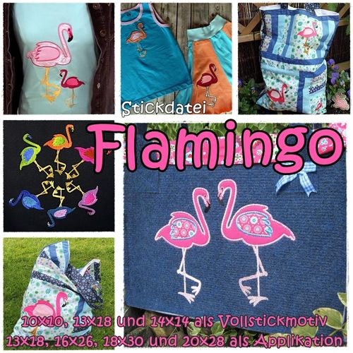 Flamingo 10x10 bis 20x30 SET