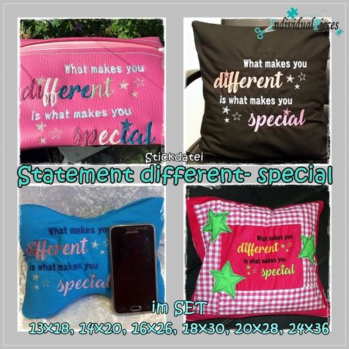Statement DIFFERENT- SPECIAL 13x18 bis 24x36