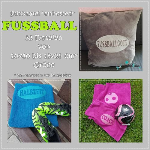Stickdatei *embossed* FUSSBALL ab 10x10